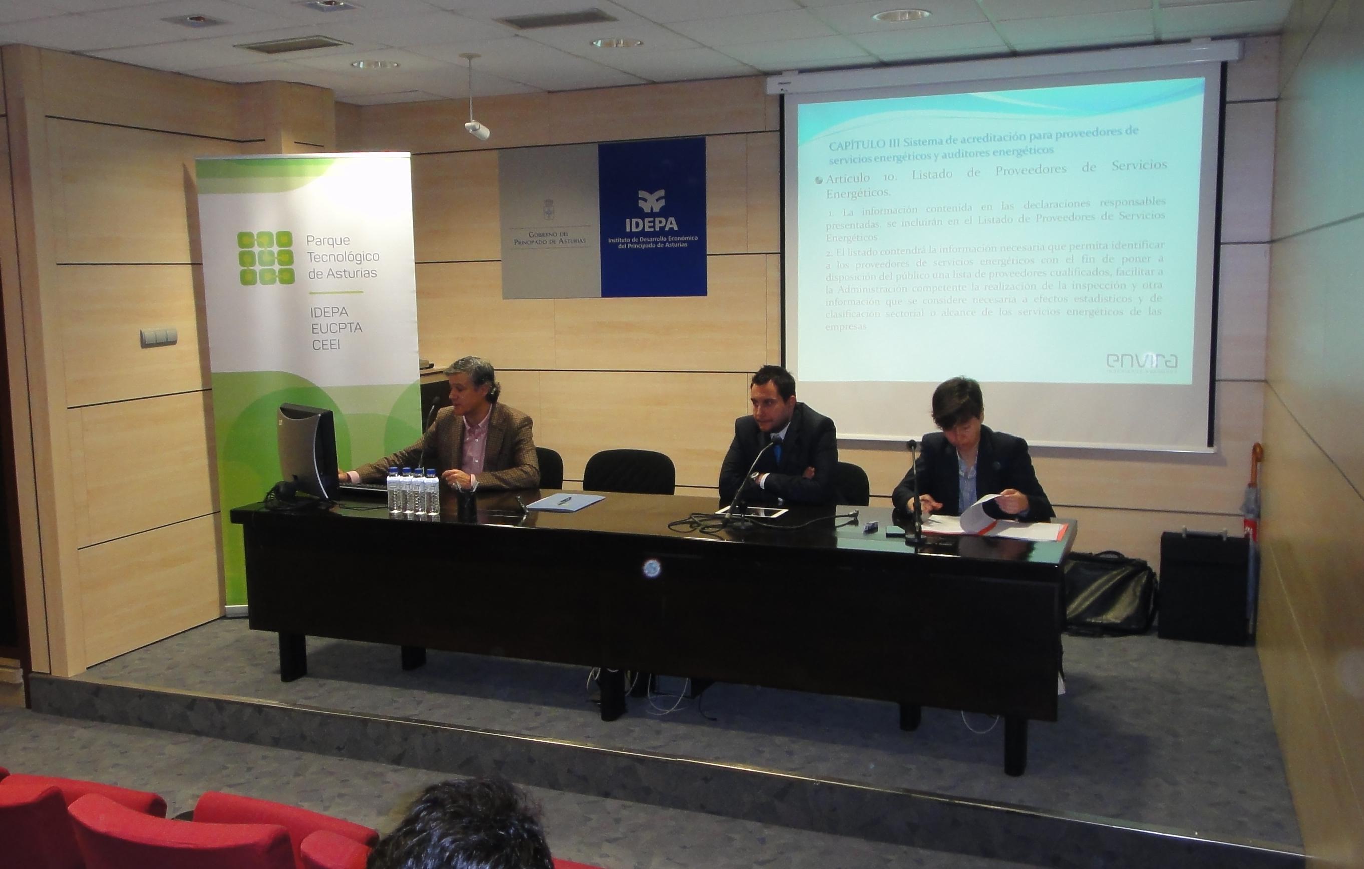 Acogida Jornada Auditorías Energéticas promovida por Parque Tecnológico de Asturias