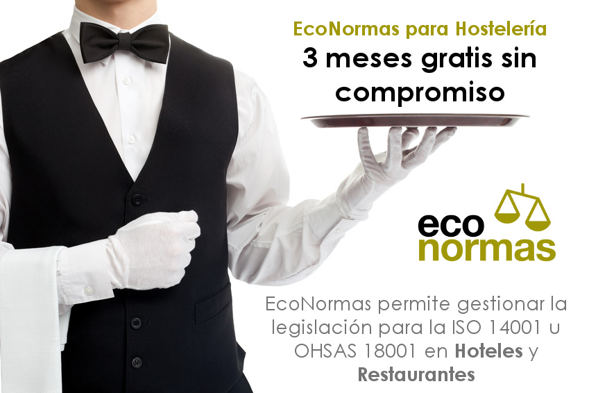 Legislacion ISO 14001 de medio ambiente para hoteles y restaurantes 3 meses gratis